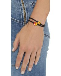 Venessa Arizaga | Burger + Fries Bracelet Set - Black | Lyst