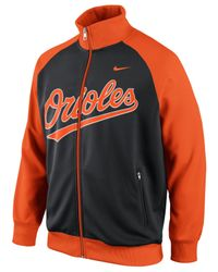 Nike | Orange Men'S Baltimore Orioles Track Jacket for Men | Lyst