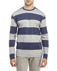Izod | Blue Stripe Rugby Tee for Men | Lyst