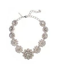Oscar de la Renta - Metallic Swarovski Crystal Necklace - Lyst