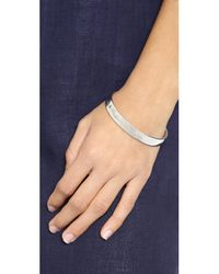 kate spade new york - Metallic Moon Engraved Bangle Bracelet - Silver - Lyst