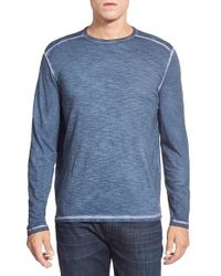 Tommy Bahama | Blue 'salerno' Long Sleeve Slubbed T-shirt for Men | Lyst