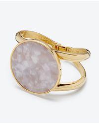 Ann Taylor | Metallic Shimmer Stone Cuff | Lyst