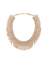 Forever 21 | Metallic Spike Charm Statement Necklace | Lyst