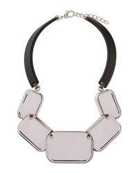 Lafayette 148 New York | Metallic Lucite Geometric Necklace | Lyst