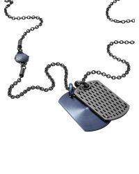 DIESEL - Gray Necklace Dx0883 for Men - Lyst