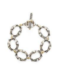 Konstantino | White 'amphitrite' Pearl Link Bracelet | Lyst