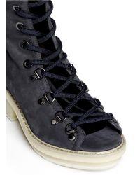 3.1 Phillip Lim - Blue 'Mallory' Open Lace-Up Sandal Boots - Lyst