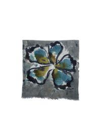 Franco Ferrari - Blue Floral Ink Wool-cashmere Scarf - Lyst