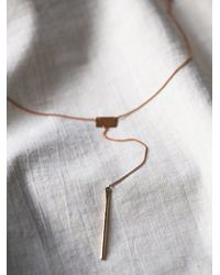 Free People - Metallic Lariat Bar Necklace - Lyst