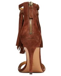 Nine West | Brown Dontdare Fringe Sandals | Lyst