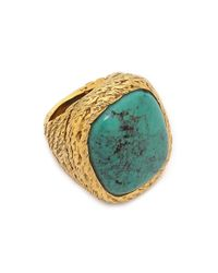 Aurelie Bidermann | Metallic Miki Ring With Stone | Lyst