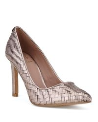 Elliott Lucca | Pink Catalina Woven Leather Pumps | Lyst