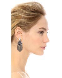 DANNIJO   Metallic Allegra Earrings - Silver/Crystal/Italian Purple   Lyst