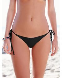 Free People - Black Solid Tie Side Bottoms - Lyst
