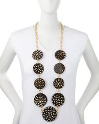 Nest - Black Spotted Horn Disc Necklace - Lyst