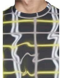 KENZO - Blue Neon Abstract Check Sweatshirt for Men - Lyst