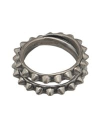 Tom Binns - Metallic Double Pyramid Stud Ring - Lyst