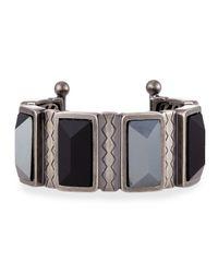 Rebecca Minkoff - Metallic Multicolor Stone Bangle Bracelet - Lyst