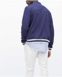 Zara | White Piqué Jacket for Men | Lyst