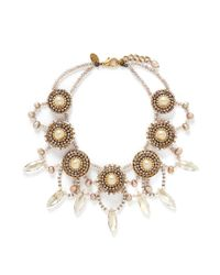 Erickson Beamon | Metallic 'stratosphere' Pearl Crystal Necklace | Lyst