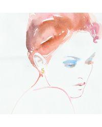 Lulu Frost | Metallic Code Number 14kt #5 Earring | Lyst