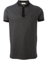 Saint Laurent - Black Band Collar Polo Shirt for Men - Lyst