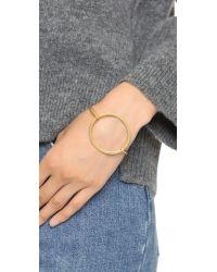 Madewell - Metallic Oar Latch Cuff Bracelet - Vintage Gold - Lyst