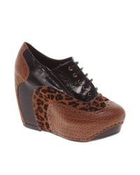 Chinese Laundry | Black Kick Start Wedge Brogues | Lyst