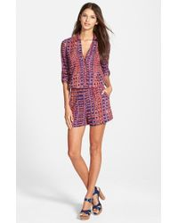 Plenty by Tracy Reese | Brown Easy Romper | Lyst