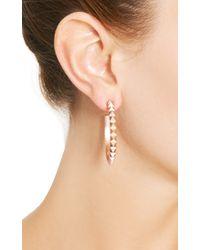 Eddie Borgo | Metallic Rose Gold-Plated Pyramid Hoop Earrings | Lyst