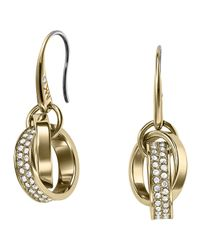Michael Kors | Metallic Pave Link Earrings | Lyst