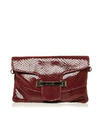 Moda In Pelle - Red Zoeyclutch Occasion Handbag - Lyst