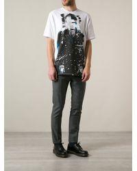 MSGM - Blue Digital Print Tshirt for Men - Lyst