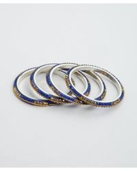 Chamak by Priya Kakkar | Set Of 4 Blue And Gold Jeweled Bangles | Lyst