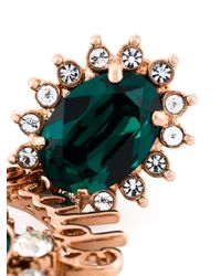 Mawi | Green 'emerald Slogan' Earrings | Lyst