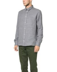 Norse Projects | Gray Aaron Wool Gauze Shirt for Men | Lyst