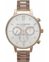 Olivia Burton - Pink Big Dial Chronograph Watch - Lyst