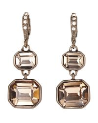 Givenchy | Metallic Double Drop Earrings | Lyst