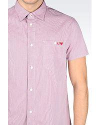 Armani Jeans - Pink Cotton Shirt for Men - Lyst