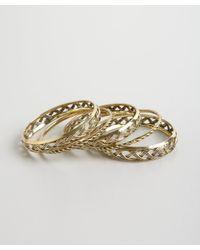 Chamak by Priya Kakkar - Metallic Set Of 5- Brass Rope Style Metal Bangles - Lyst