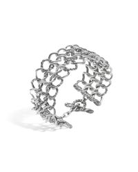 John Hardy | Gray Classic Chain Round Link Wide Bracelet | Lyst