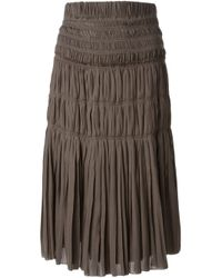Isabel Marant | Brown Pleated Skirt | Lyst