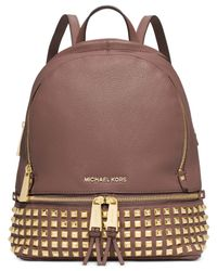 Michael Kors | Pink Michael Rhea Studded Backpack | Lyst
