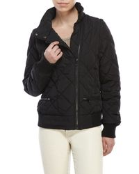 Marc New York | Black Convertible Quilted Moto Jacket for Men | Lyst
