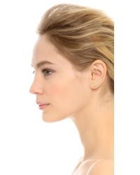 EF Collection - White Floating Stone Curved Bar Left Ear Crawler - Lyst