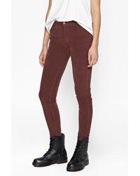 French Connection - Brown Hendrix Velvet Skinny Jeans - Lyst