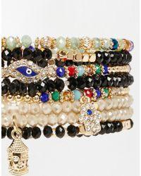 ALDO - Multicolor Beilby Hamza Hand & Eye Multipack Bracelets - Lyst