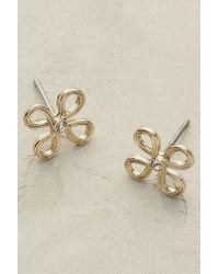 Anthropologie - Metallic Petalle Earrings - Lyst