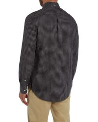 GANT - Gray Gingham Heather Twill Shirt for Men - Lyst